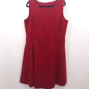 211 Collection Fit & Flare Red Dress